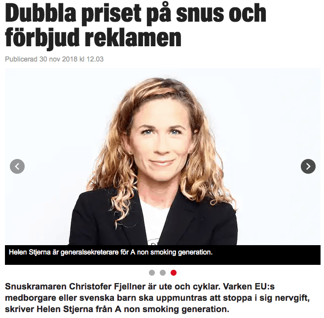A Non Smoking Generation i Expressen
